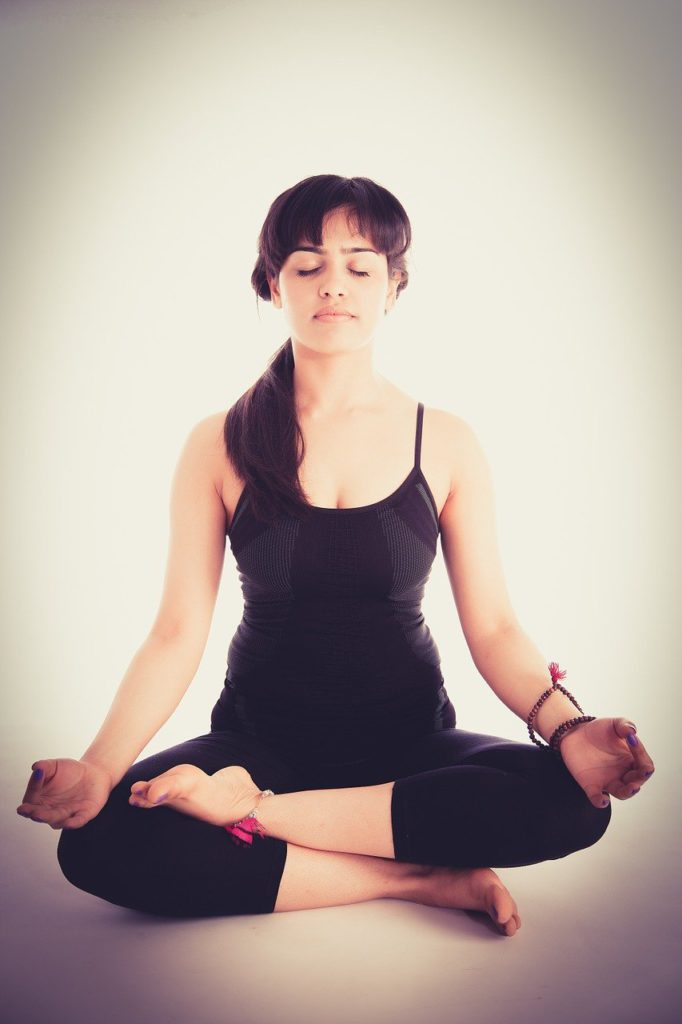 yoga, pose, women